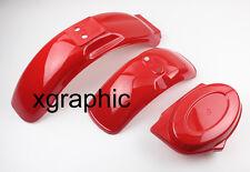 """Z50 Red F/R Fenders Side Cover Body For Honda Monkey Z50 Z50R Z50J Bikes 8""""/10"""""""
