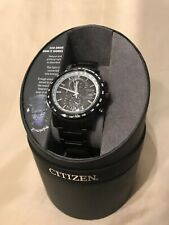 Citizen Eco-Drive ATOMIC RADIO-Controlled WORLD TIME  black s/s MENS Watch