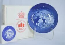 NIB BING & GRONDAHL 1980 CHRISTMAS IN THE WOODS COLLECTOR PLATE