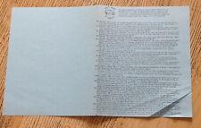 New listing Original early Seventies Trade Mark of Quality Lp catalog