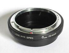 Canon FD to M4/3 MFT adapter Pixco Canon FD lenses on Olympus Panasonic UK sale