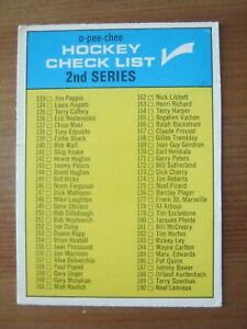1969 70 OPC O Pee Chee # 31 Unmarked Checklist Terry Sawchuk Bobby Orr       ZH1