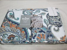 New Broyhill Two Standard Shams - Flower/Paisley - Orange, Teal, Grey, Taupe