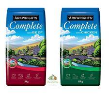 More details for 15kg / 30kg arkwrights complete dry dog food biscuits choose chicken or beef