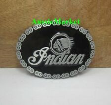 1 x mens ladies belt buckle indian motorcycle motorbike chain bikie biker jeans