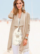 Together Sz S Small 8 10 Gold Metallic Lace Hem CARDIGAN Occasion £55 Flattering