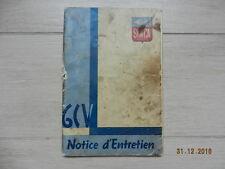 Notice d'utilisation SIMCA 6 cv mars 1939