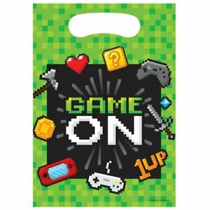 8 x Gaming Party Loot Bags gaming Video Computer Game On Party Favour Treat bags