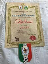 DIPLOMA CLUB DELLE GIOVANI MARMOTTE - GRADO VOLPE