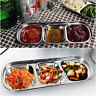 1-4 Grid Stainless Steel Flavored Soy Sauce Sushi Seasoning Dishes Kitchen Plate
