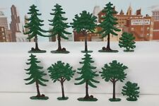 Lot Of 10 Vintage 1940's Die-cast Metal Trees For Railroad Layout - HO & S Scale