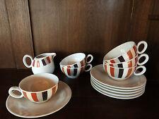 6 Teetassen 2tlg. und 1 Gießer Trio crema / weiß von Seltmann Weiden