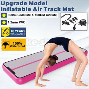 3-5M Inflatable Air Track Gymnastics Tumbling Yoga Mat Electric Pump Gym Fitness