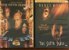 The Fifth Element/The Sixth Sense (Dvd, 1997)*Bruce Willis