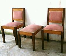 Eccezionale coppia di sedie + pouf stile deco