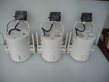 Erco TM drei Schienen-Strahler weiß, Adapter schwarz, E 27, LED-fähig