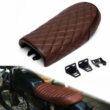 Brown Universal Cafe Racer Seat Tracker Scrambler Saddle for Honda Yamaha Suzuki
