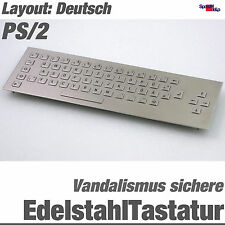 TOP EDELSTAHL VANDALISMUSSICHERE TASTATUR WASSERFEST IP65 PS/2 DIN ALL WINDOWS