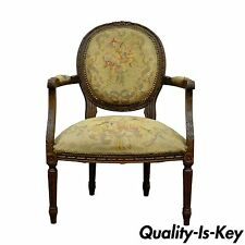Antique 19th Century French Louis XVI Style Needlepoint Fireside Arm Chair B  sc 1 st  eBay & French Country CENTURY Chairs | eBay
