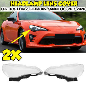 2X Front Headlight Lens Cover FOR TOYOTA 86 / SUBARU BRZ / SCION FR-S 2017-2020