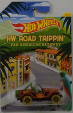 HW ROAD TRIPPIN PAN-AMERICAN Jeep Roll Patrol 1:64 HOT WHEELS USA cbj03