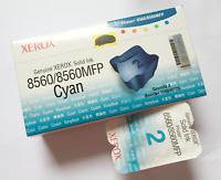 Original Xerox Phaser 8560/8560 MFP Solid Ink Stick Cyan Blau (2) 108R00723 Neu