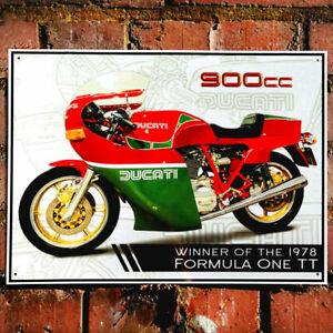 """DUCATI 900cc MIKE HAILWOOD MOTORBIKE METAL WALL SIGN 300 X 410mm 12"""" X 16"""" 50919"""