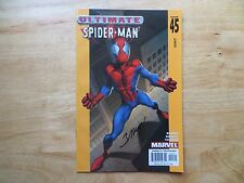 2003 ULTIMATE SPIDER-MAN # 45 AUNT MAY SIGNED MARK BAGLEY WITH POA