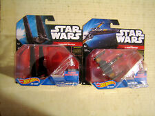 2 COLLECTABLE HOT WHEELS STAR WARS SHIPS COMMAND SHUTTLE & X-WING FIGHTER