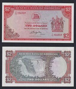 Rhodesia - 2 dollars 1977 FDS-/UNC-  C-09