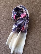 Paul Smith Women's Multi-Coloured Floral Print Silk Blend Scarf