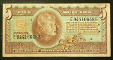 US Military Payment Certificate Currency $5 Series 692 #6333