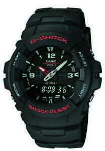 Casio G-Shock Men's Ana-Digi Black Resin Band Sport 47.5mm Watch G100-1BV
