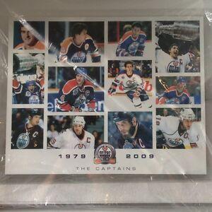 Edmonton Oilers Captains Plaque featuring Wayne Gretzky, Messier, Lowe 1979-2009
