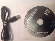 CAVO DATI MOTOROLA -V3-ORIGINALE  CON CD   -OFFERTA-