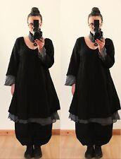 LONG FAIRY TUNIC LINEN DRESS UK Plus Size 20 22 24 Baggy Lagenlook Vintage Boho