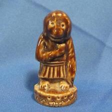 Wade Circus Monkey Wearing Pleated Skirt Brown Glaze Miniature Ceramic Figurine