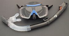 WILCOMP Snorkelling/Diving Silicone Set  3-windows Mask  & Dry Snorkel WIL-DS-17