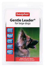 BEAPHAR GENTLE LEADER FOR LARGE DOGS, L, BLACK LEAD