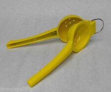 Yellow Enamel Hand Held LEMON SQUEEZER PRESS Juicer