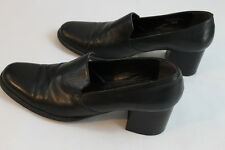 Women's Calico black leather upper wedges size 9.5M slip on
