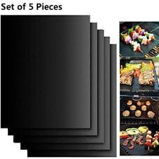 Lot de 5 tapis de cuisson en téflon anti-adhésif réutilisables griller la viande