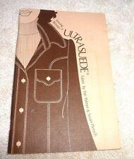 VINTAGE BOOK SEWING SKINNER ULTRASUEDE FABRIC 1982