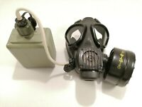 Serbian Army M2 F V Phonic Gas Mask with Drinking Tube and Canteen Complete kit