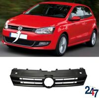 NEW VOLSWAGEN VW POLO 2009 - 2014 FRONT BUMPER UPPER GRILL WITH CHROME MOULDING