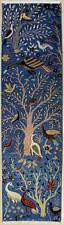 Rugstc 2.5x10 Senneh Pak Persian Blue Runner Rug,Hand-Knotted,Pictorial Hunting,