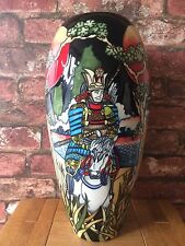 "Superb Moorcroft 14"" The Way of the Warrior Baluster Trial Vase by Paul Hilditch"