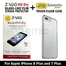 Otterbox Case Cover + Zagg Film Screen Protector for iPhone 8 Plus 8+ 7 Plus 7+