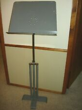 Vtg Hamilton K&B Heavy Duty Metal Adjustable Music Stand Patent No. D-157170