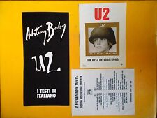 U2 Achtung baby testi in italiano official BMG booklet 16 pg 30x15 + advertising